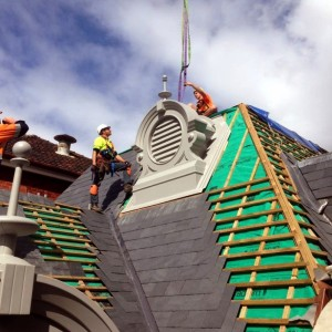 Skalūno Welsh Slate Cwt-Y-Bugail natūrali stogo danga