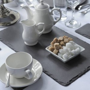 Akmens skalūno indai Welsh Slate Slateware – Kolekcija Dressed Collection